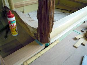 床柱と床框取り合い