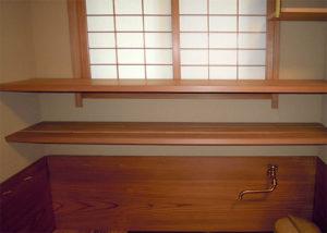 水屋棚板詳細
