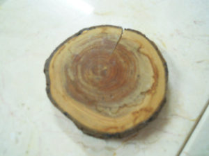 檜のコースター