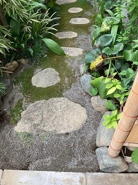 砂を撒いた庭