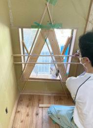 茶室嵌め殺し窓障子桟の検討